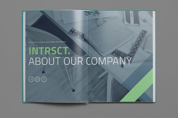 This Intrsct Indesign template is a 24pp information based brochure ...