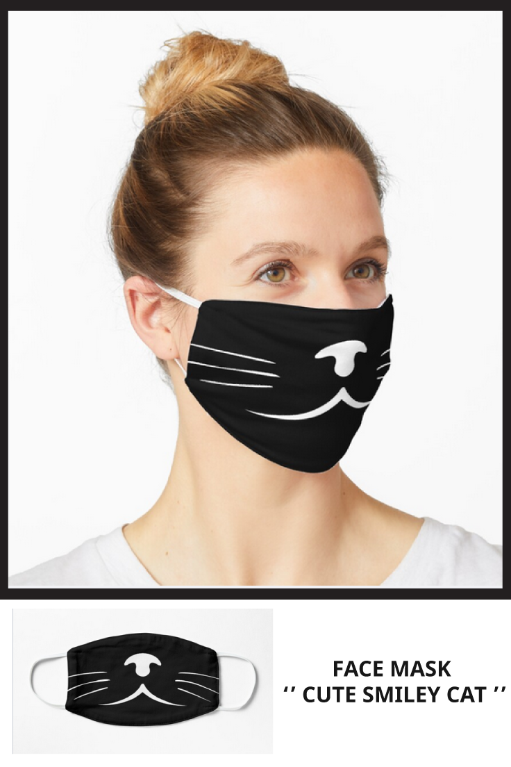 'cute smiley cat 2020 ' Mask by in 2020 Cat