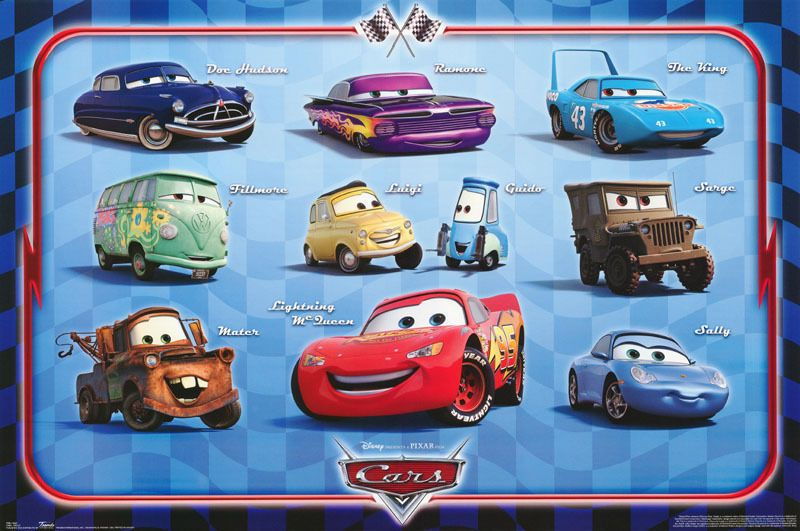 Details About Lot Of 3 Posters Movie Repro Animated Cars