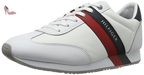 Tommy Hilfiger M2285axwell 12c2, Sneaker Basses Homme, Blanc