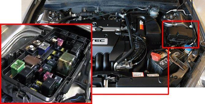 Acura Rsx  2002  2003  2004  2005  2006  Fuse Box Location