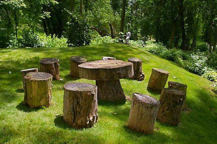 1001 Ideen Fur Diy Mobel Und Wohnaccessoires Aus Holzklotzen Baumstamm Garten Garten Design Gartendesign Ideen