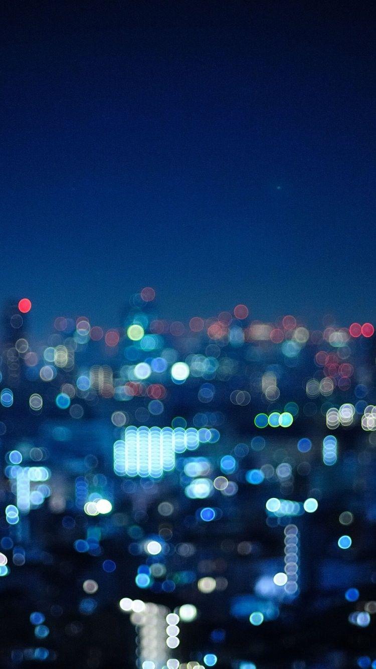 Night Lights Iphone 6 Wallpaper 32169 City Iphone 6 Wallpapers City Wallpaper Bokeh Wallpaper Photography Wallpaper