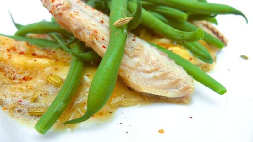 Green Bean and Mackerel Omelet with Fennel Seeds (dairy-free)