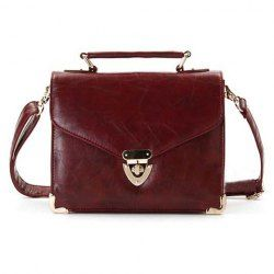 $14.09 Vintage and Casual Style Womens Crossbody Bag With Metallic and Covered Closure Design