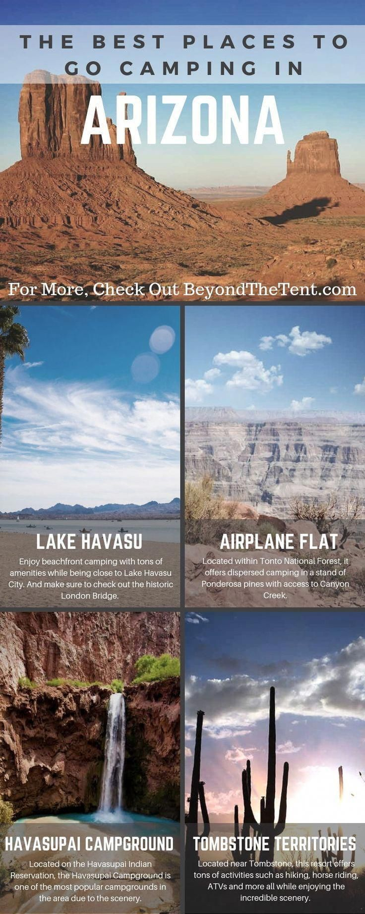 has so many tent and RV camping options but which one is right for your next vacation. Here is a list of the best camping spots in the state.Arizona has so many tent and RV camping options but which one is right for your next vacation. Here is a list of the best camping spots in the state.