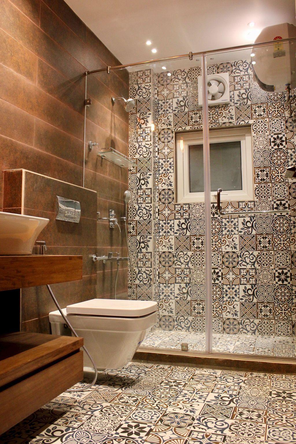 18 impresionantes ideas de patrones de azulejos de baño in 18