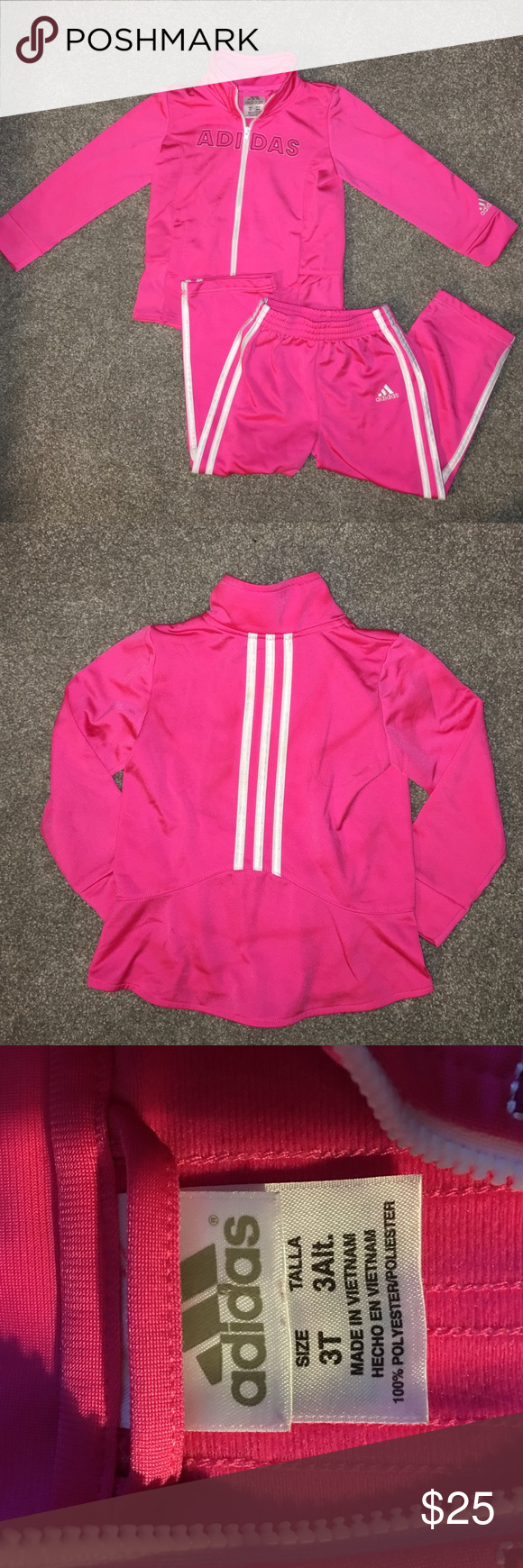 Adidas toddlers sweat suit Adidas cute outfit! Great condition! 3t adidas Shirts & Tops Sweatshirts & Hoodies