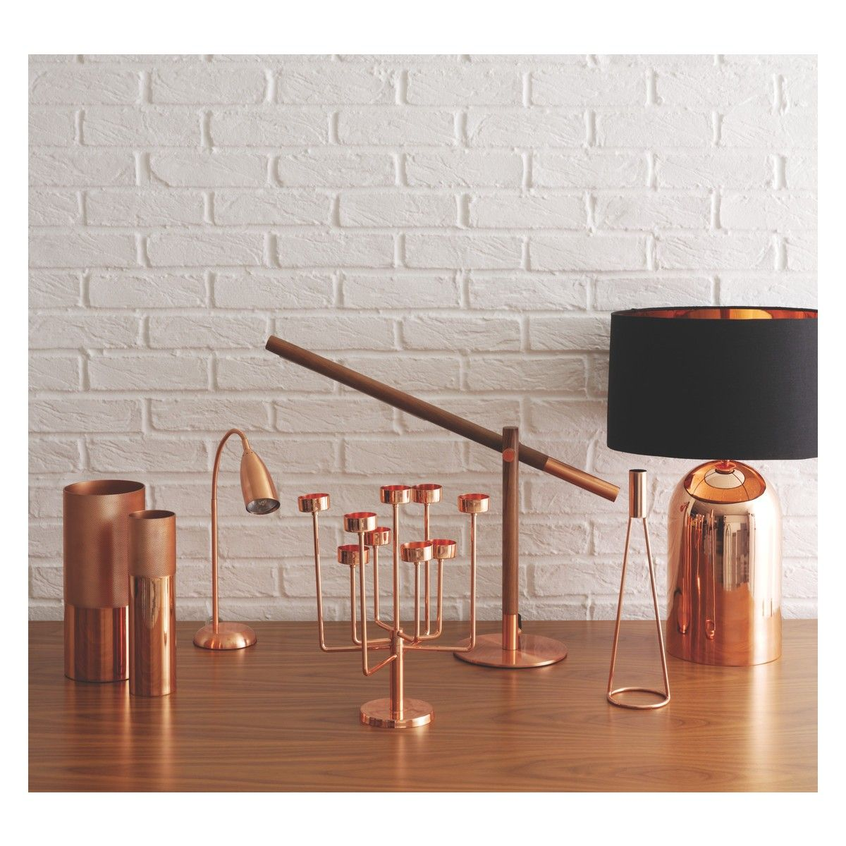 Copper copper vase desk lamp touch table lamps and desks copper copper vase buy now at habitat uk greentooth Choice Image