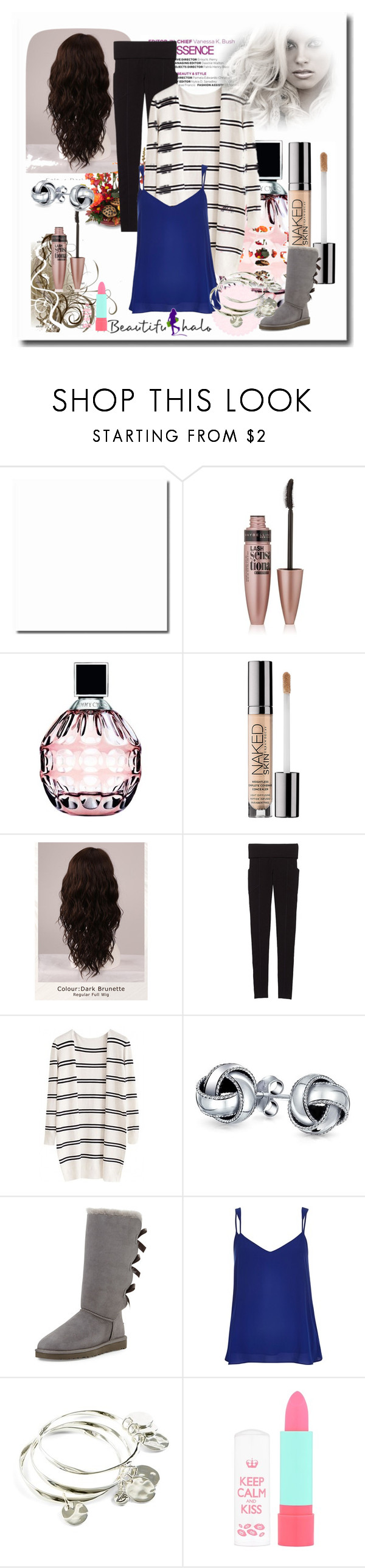 """""""School Outfits"""" by schooloutfits101 on Polyvore featuring Maybelline, Jimmy Choo, Urban Decay, WigYouUp, Victoria's Secret, Bling Jewelry, UGG Australia, River Island, Vera Bradley and Rimmel"""