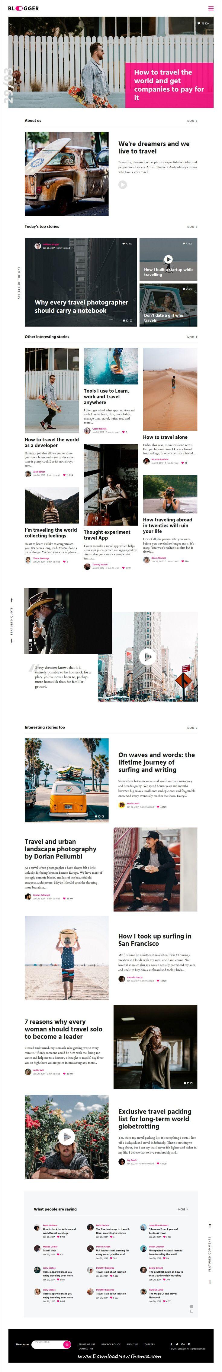 Korve - Personal Blogger Template