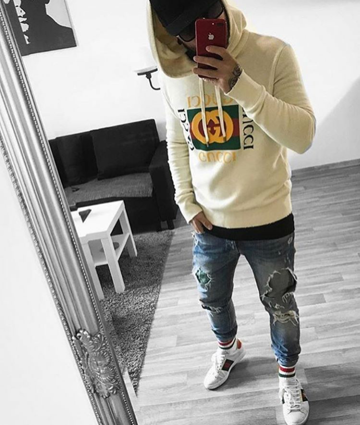 Gucci Hoodie and Trainers
