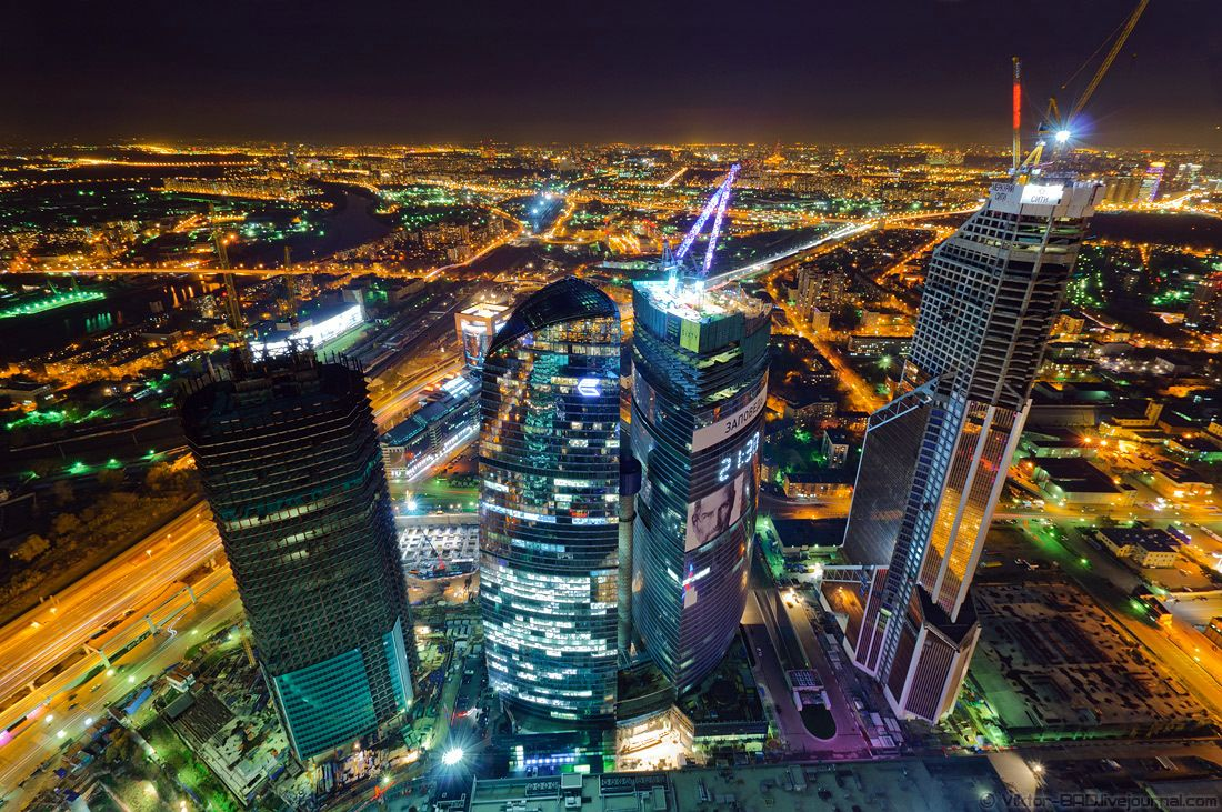 Moscow Night View Russia Tim Beta