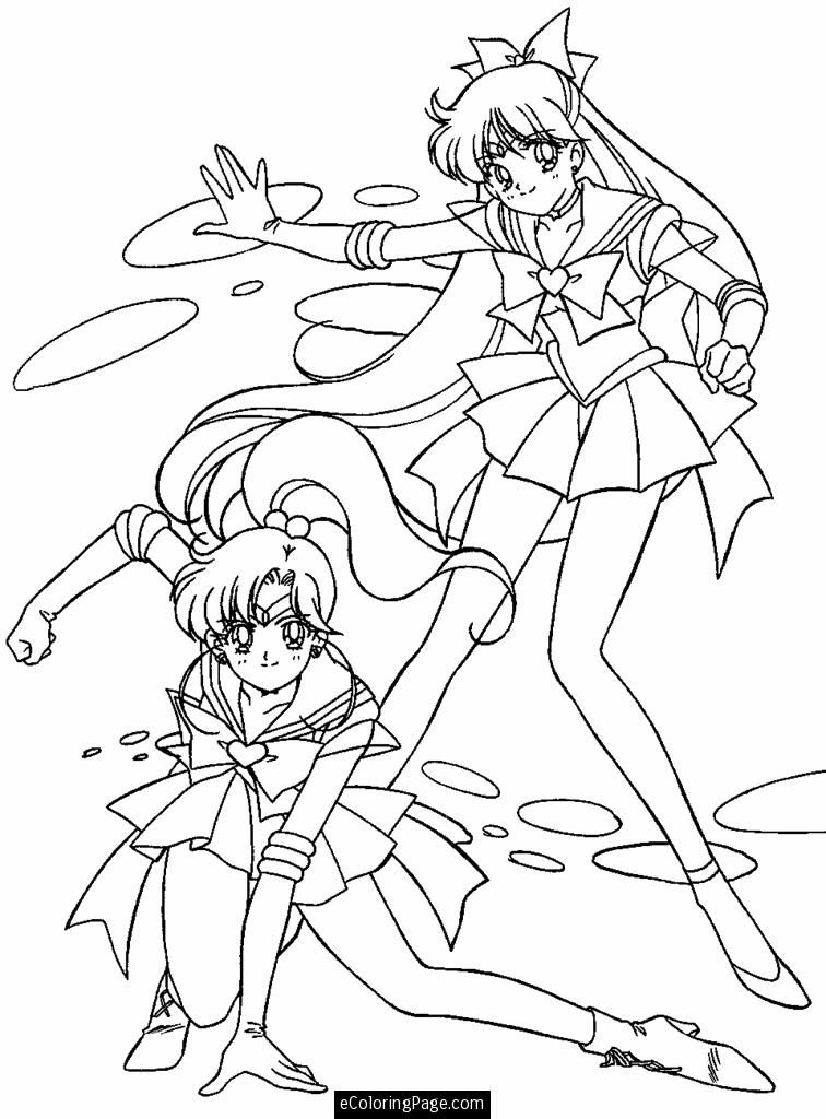 Anime Sailor Moon Coloring Page For Kids Printable