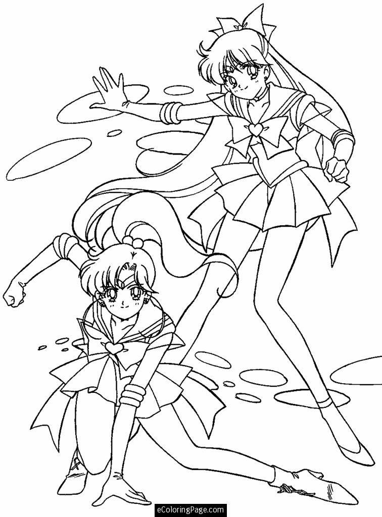 Anime Sailor Moon Coloring Page For Kids Printable