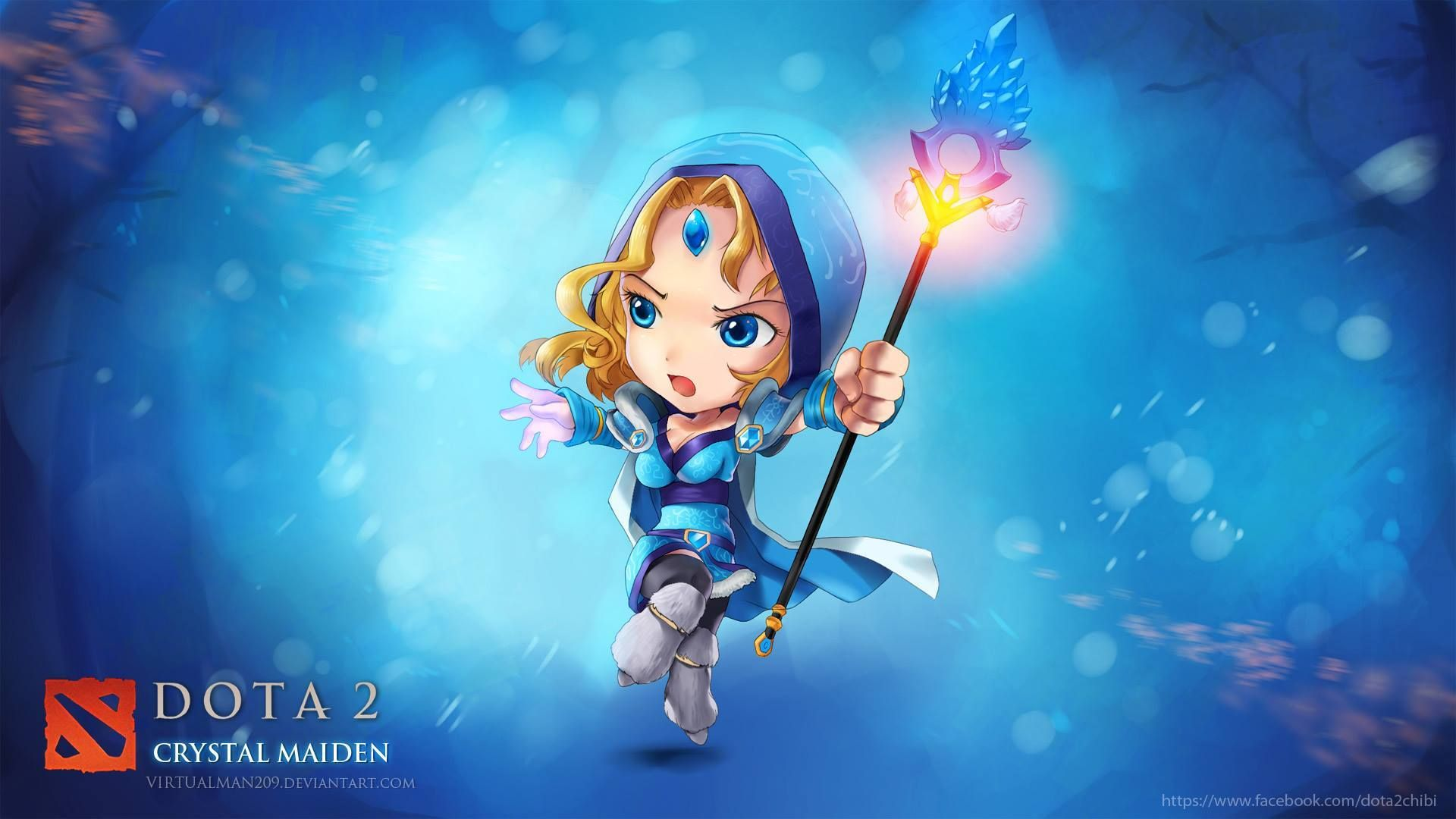 Wallpaper Dota 2 Crystal Maiden Chibi Dota Pinterest Dota 2
