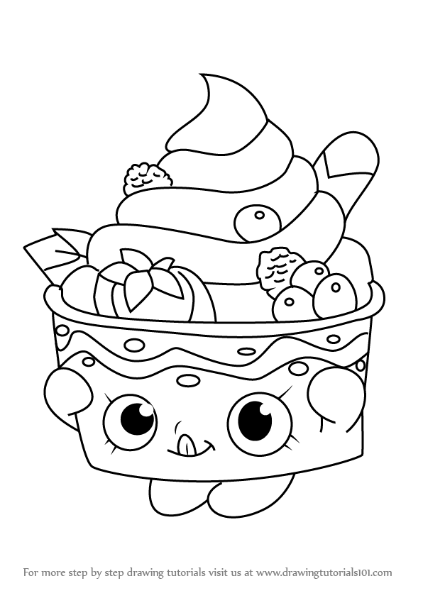 Learn How To Draw Yo Chi From Shopkins (Shopkins) Step By Step : Drawing  Tutorials