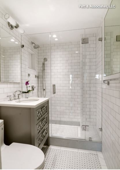 This 5x8' bathroom remodel cost only US$12,000. Plumbing ...
