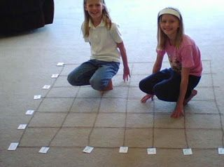 Our Fun Homeschool: Coordinate Fun on a Floor Graph