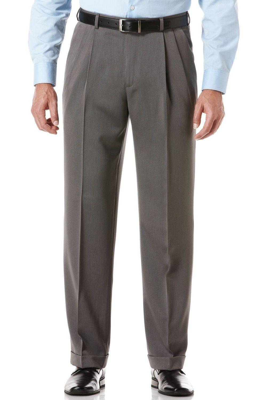 098786b4 Ralph Lauren Men's Charcoal Double Pleated Front Cuffed Pants ...