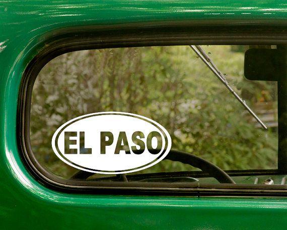 Oval el paso decal el paso texas sticker by stickeranddecalmafia