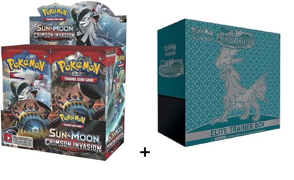 Pokemon, Sun and Moon Crimson Invasion Booster Box and