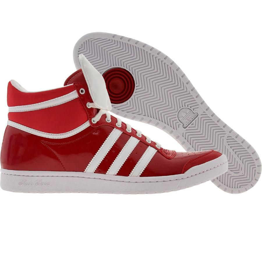 Adidas Womens Top Ten High Sleek Bow shoes in university red
