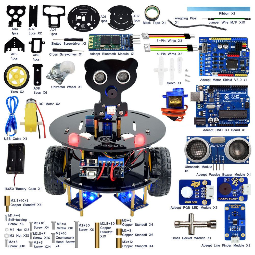 starter kit arduino arduino controller arduino programming smart car smart robot  [ 1000 x 1000 Pixel ]
