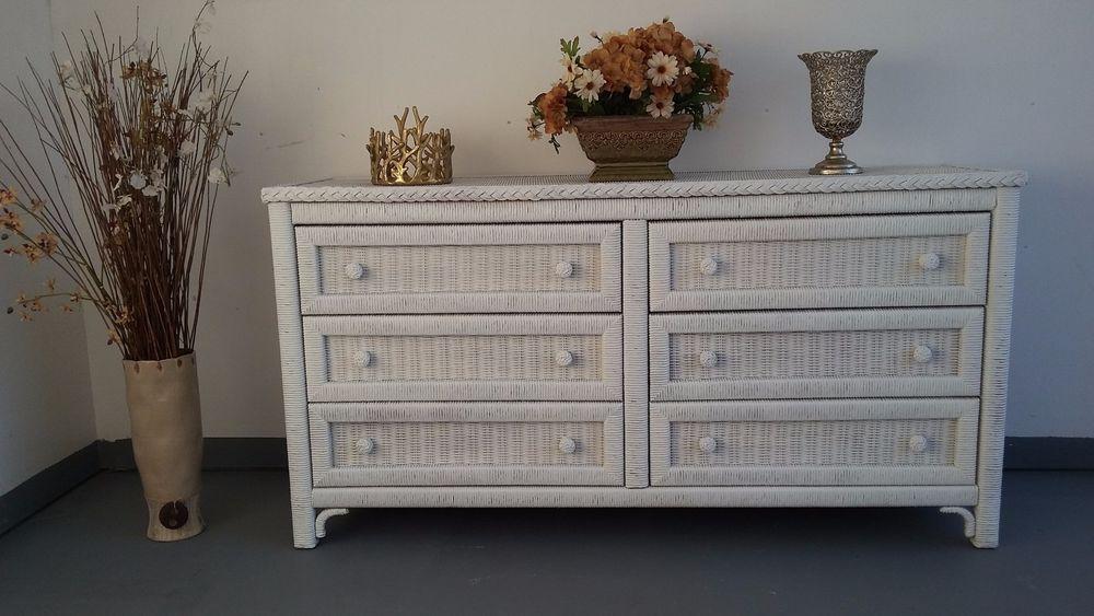 Lexington Henry Link Wicker Dresser Wicker Dresser Wicker Dresser