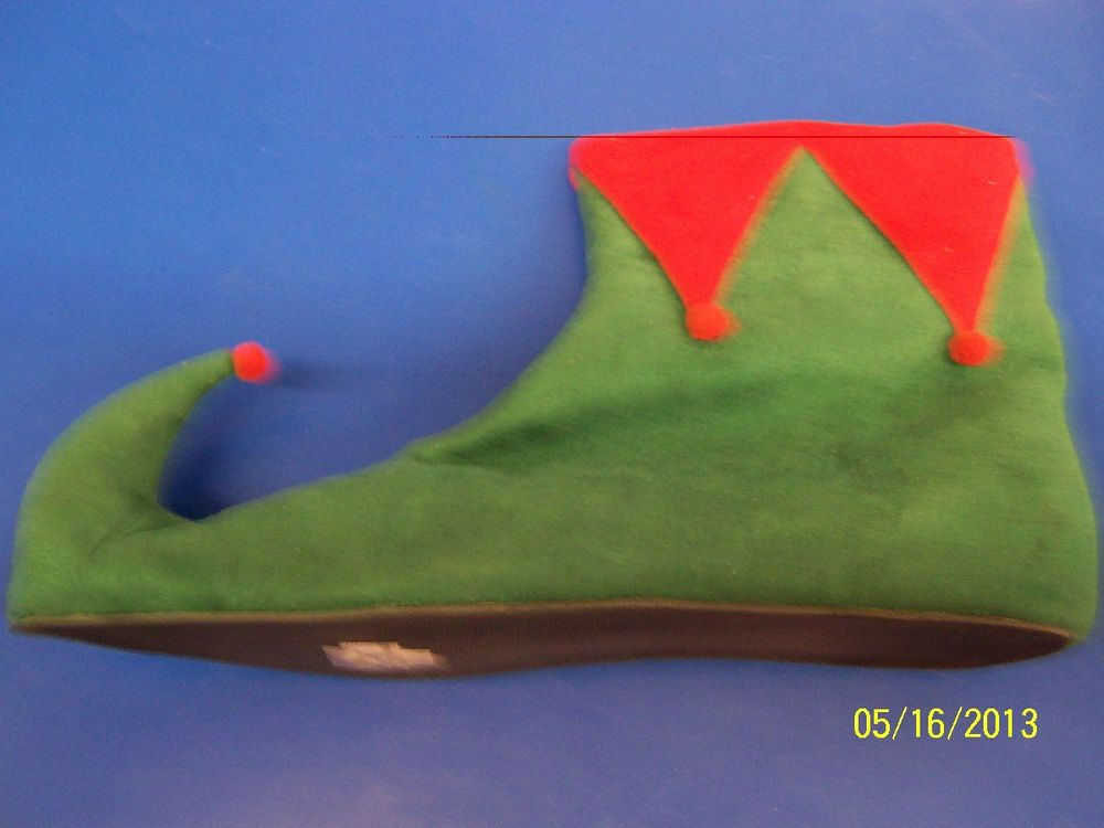 Elf Shoes Green Red Santa S Helper Ankle Boots Christmas