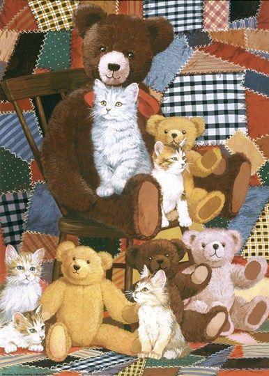 Teddy S And Friends By William Vanderdasson Teddy Gallery Wrap