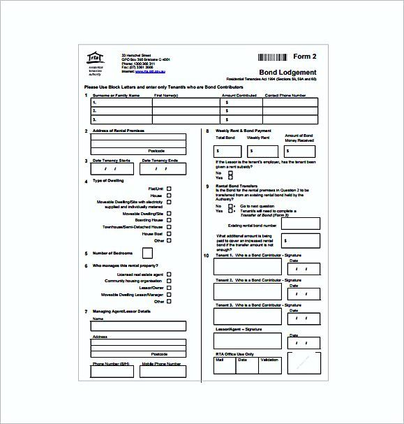 rent Bond Receipt PDF Free , Rent Invoice Template , Knowing Some