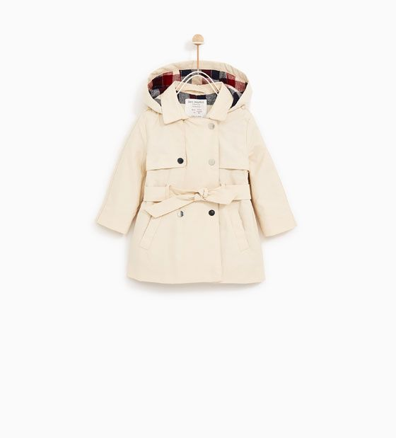 Image 1 of TRENCH COAT WITH CHECKED LINING from Zara ...