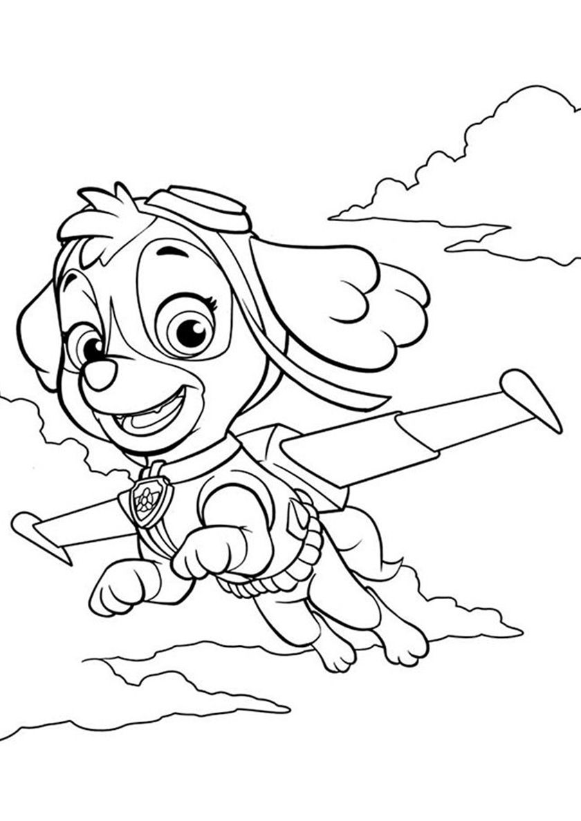 Skye Among The Clouds High Quality Free Coloring From The Category Paw Patrol More Printable Paw Patrol Coloring Pages Paw Patrol Coloring Skye Paw Patrol