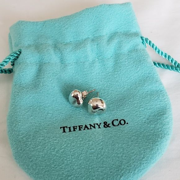 4c263e7dd RARE Tiffany & Co - Elsa Peretti Bean Earrings Sterling Silver Elsa Peretti  Bean Earrings Tiffany