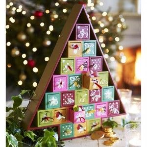 So sweet~ A Wooden Christmas Tree Advent Calendar | Home Things ...