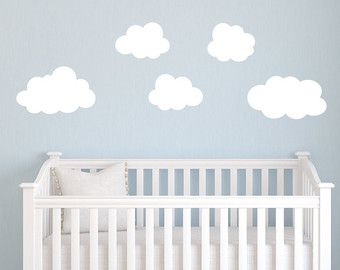 Set Of Puffy Cloud Decals Cloud Wall Decals Cloud Nursery Wall - Nursery wall decals clouds