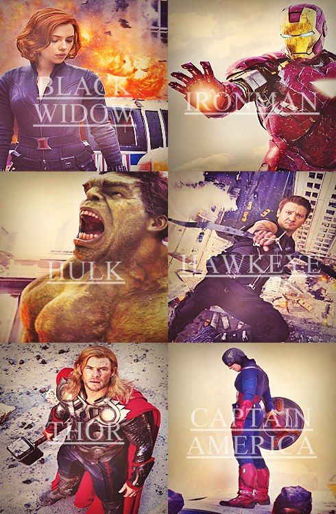 The Avengers!! Although I would like to point out that the Black Widow to me was unnecessary...there was nothing she could do that the other Avengers couldn't.....just saying....