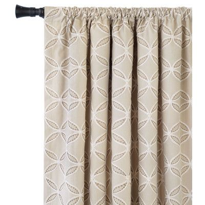 """Eastern Accents Rena Single Curtain Panel Size: 48"""" W x 120"""" L"""