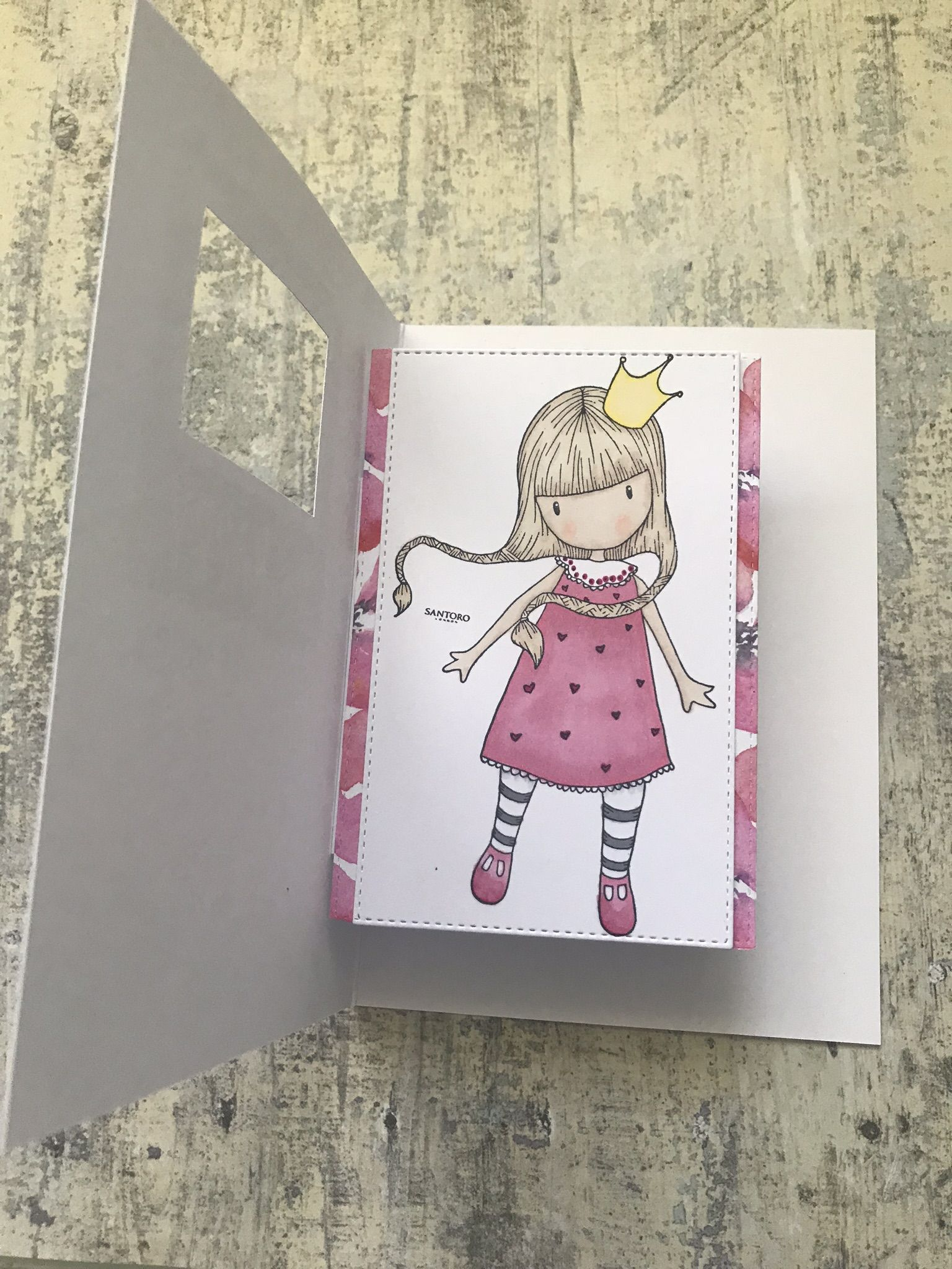 Santoro gorjuss pop up window card docrafts gorjuss handmade