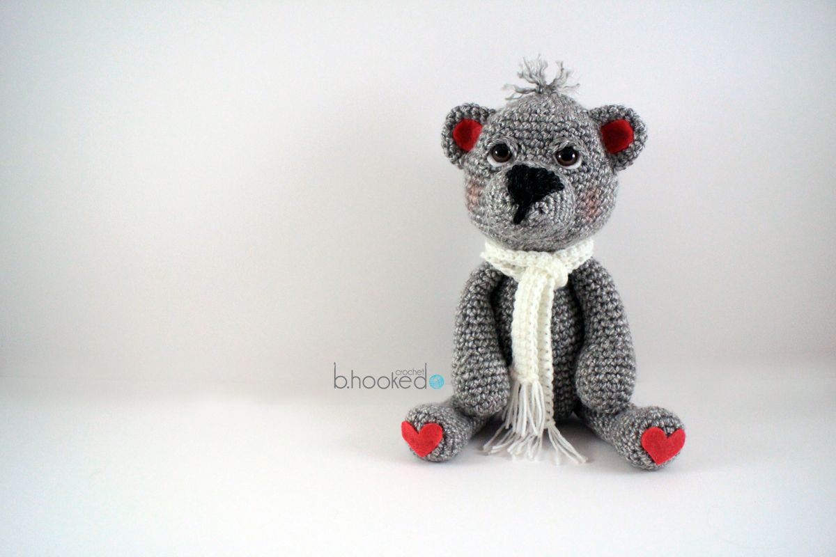 The Cutest Crochet Bear Pattern - Free from B.hooked Crochet ...