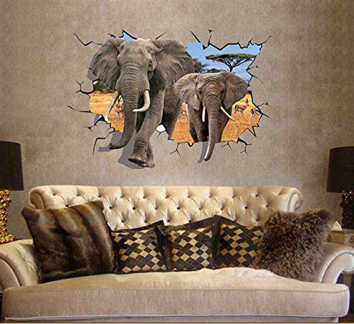 3d Wandsticker Elefanten Wandbilder Wandtattoo Selbstkleb Https Www Amazon De Dp B01f1wxbuc Ref Baby Wandtattoo Tapeten Bilder Wandaufkleber Kinderzimmer