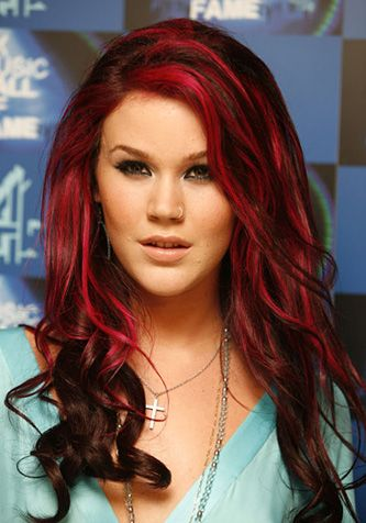 Two Tone Hair Yuck Or Yay Red Highlights In Brown Hair Red