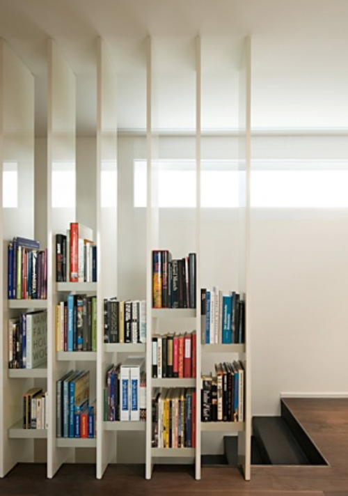 Living Room Partition Design Bookshelves