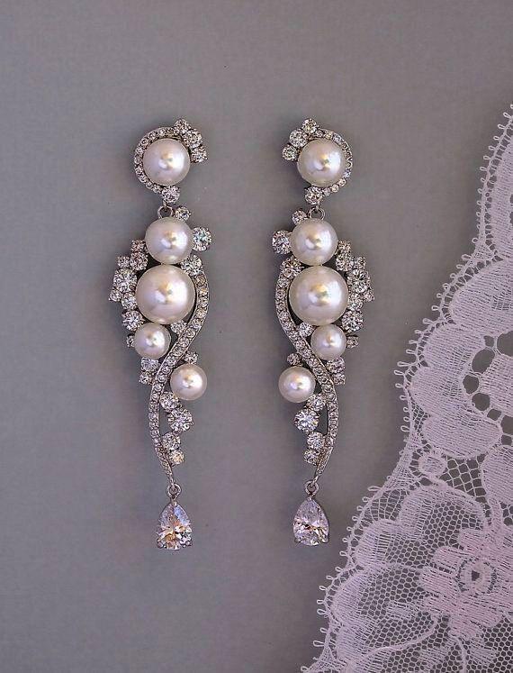 Stunning Silver Chandelier Earrings Ebay Nice