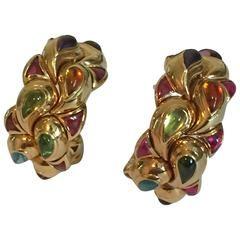 Chopard Tourmaline Gold Earrings