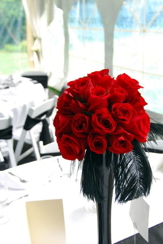 Modern Red Centerpieces : Pictures of modern wedding centerpieces red rose