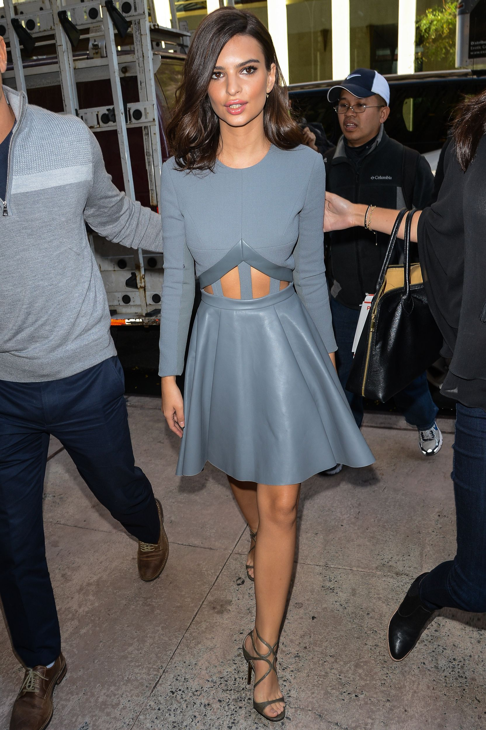 Emily Ratajkowski in David Koma at the Sirius XM Studios in New York City. via @stylelist | http://aol.it/1rVhriY