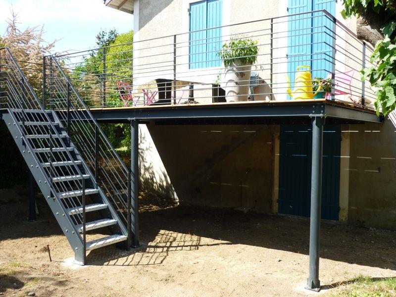 Réalisation d\u0027une terrasse en bois surélevée Architectuur - rendre une terrasse etanche