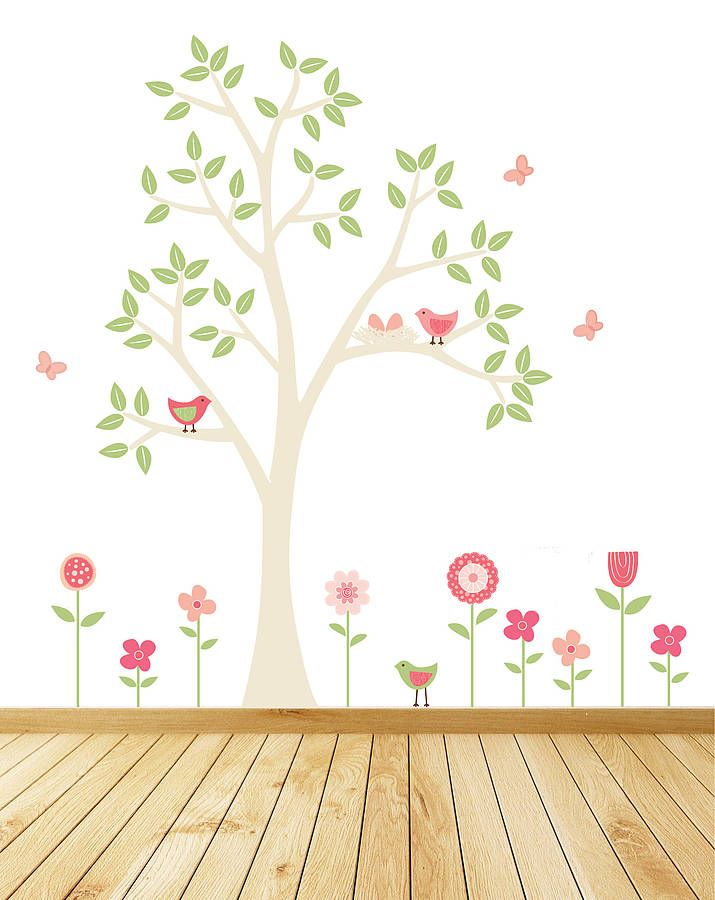 4b72e1b2f Spring Flower Garden Wall Stickers from notonthehighstreet.com